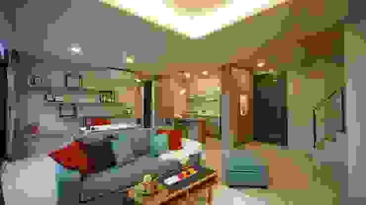 客廳 现代客厅設計點子、靈感 & 圖片 根據 璞玥室內裝修有限公司 現代風 塑木複合材料