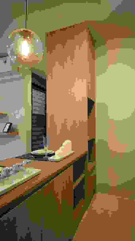 餐廳櫃 根據 璞玥室內裝修有限公司 現代風 塑木複合材料