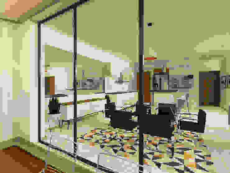 Minimalist dining room by Arquitecto Rafael Balbi Minimalist