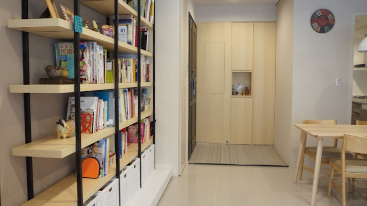 玄關 鄉村風格的走廊,走廊和樓梯 根據 璞玥室內裝修有限公司 田園風
