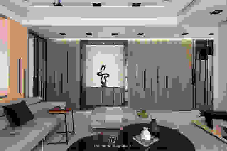 端景 现代客厅設計點子、靈感 & 圖片 根據 璞玥室內裝修有限公司 現代風 木頭 Wood effect
