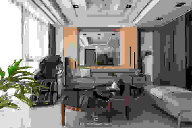 客廳 现代客厅設計點子、靈感 & 圖片 根據 璞玥室內裝修有限公司 現代風 木頭 Wood effect