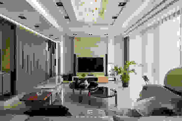 客廳 Modern living room by 璞玥室內裝修有限公司 Modern Marble