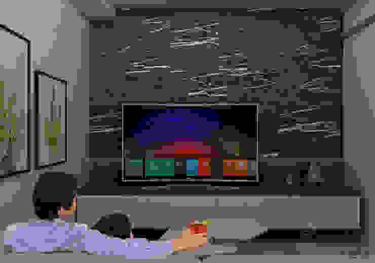Propuesta mobiliario TV CG Diseño Salas multimedia de estilo moderno