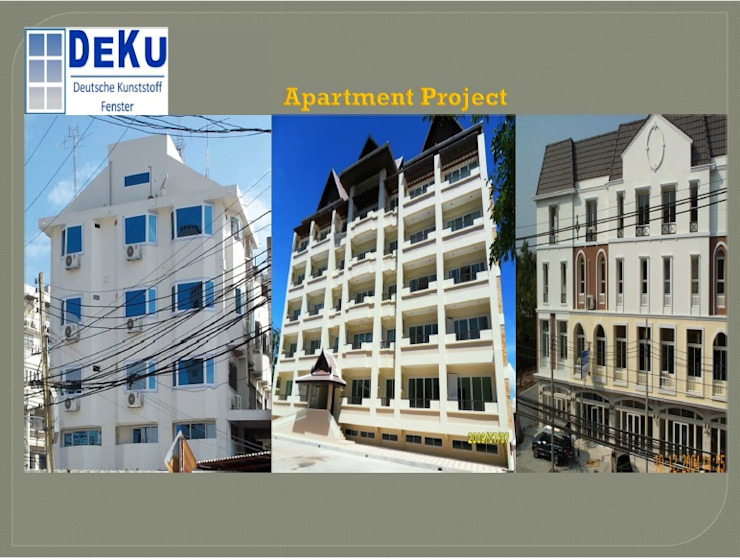 Apartment Project โดย DeKu German Windows Co.,ltd โมเดิร์น พลาสติก