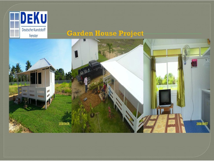 Garden House project โดย DeKu German Windows Co.,ltd ชนบทฝรั่ง พลาสติก