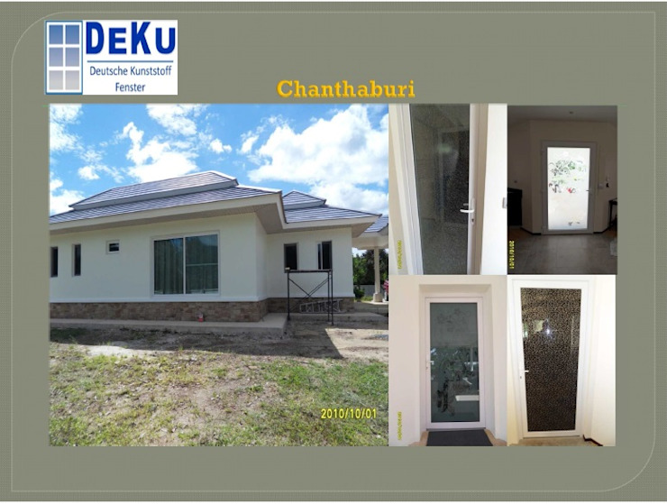 Housing Project:Chanthaburi โดย DeKu German Windows Co.,ltd ผสมผสาน พลาสติก