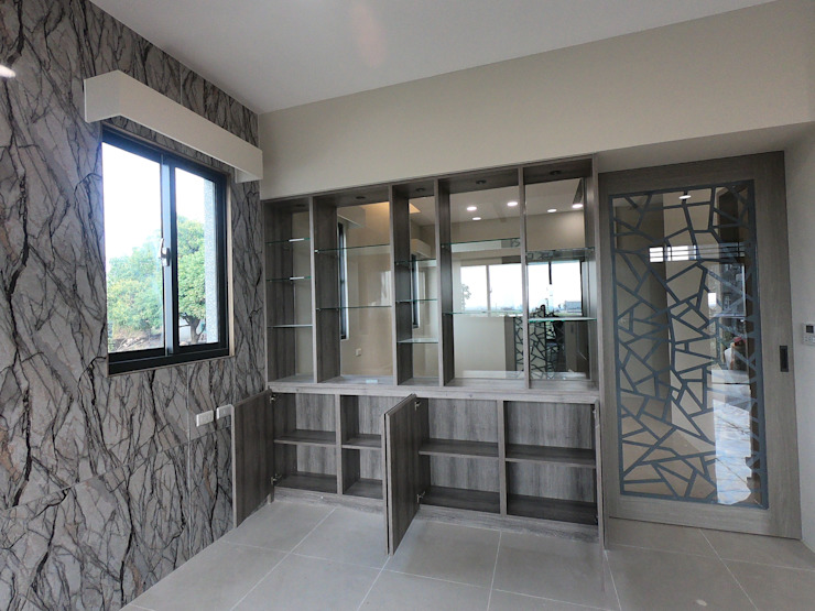 客廳系統展示收納櫃 懷謙建設有限公司