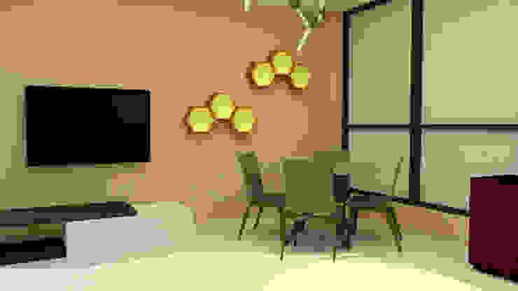 Contemporary Informal Living and Dining Area by Patricia De Jesus