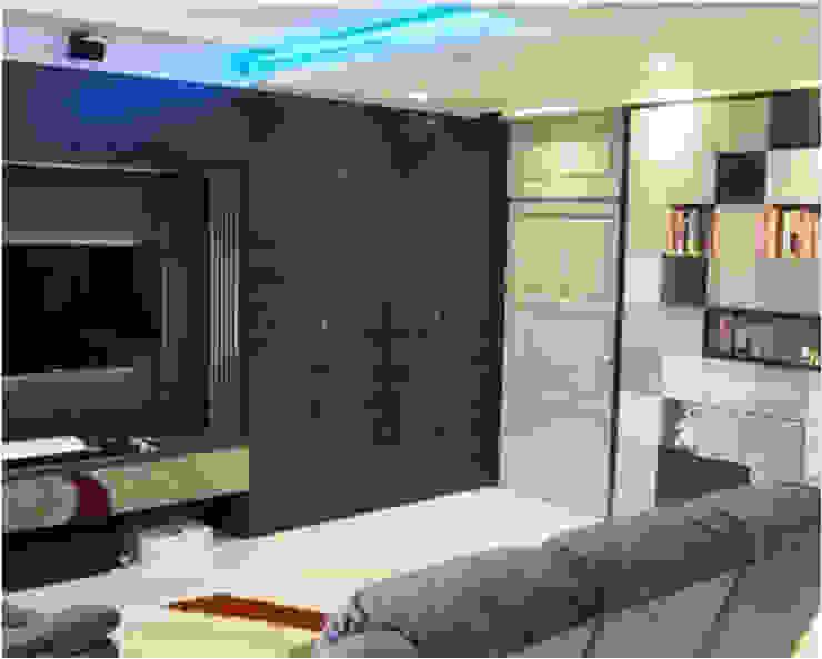 Phayatai Plaza Condominium Modern Living Room by UpMedio Design Modern