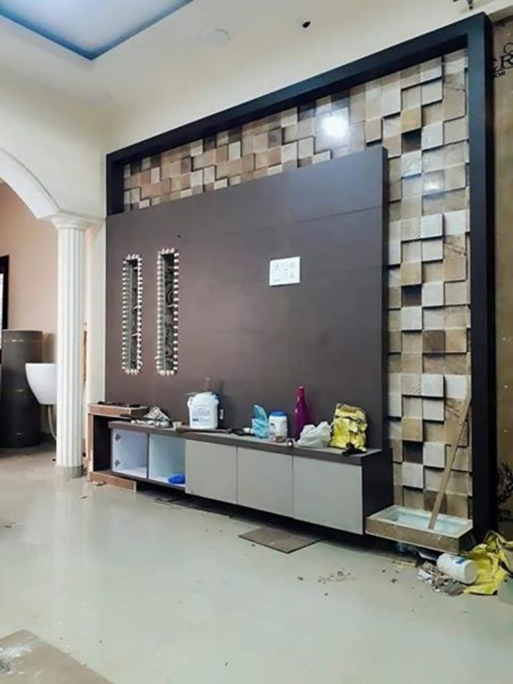 Modern TV Unit Design Modern living room by 360 Home Interior Modern