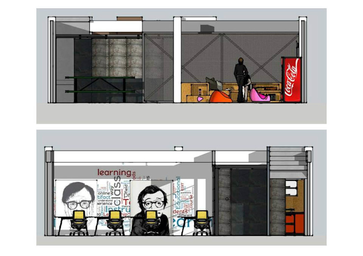 Office Renovation- Emedia Modern Study Room and Home Office by UpMedio Design Modern