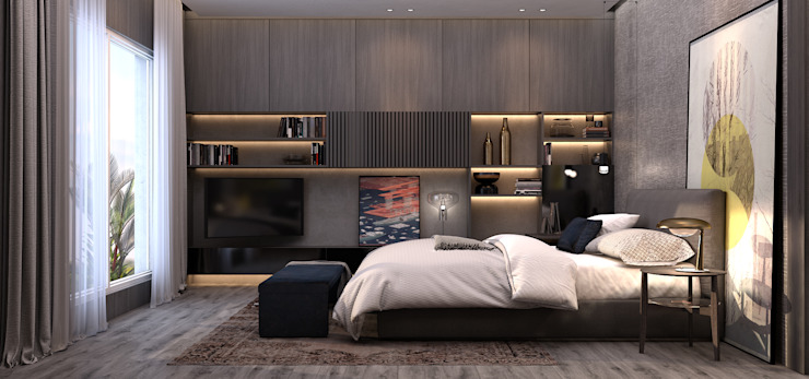 RG Modern Bedroom by STUDIO PARADIGM Modern