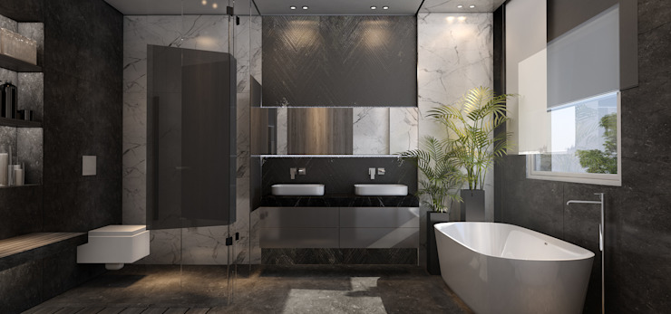 RG Modern Bathroom by STUDIO PARADIGM Modern
