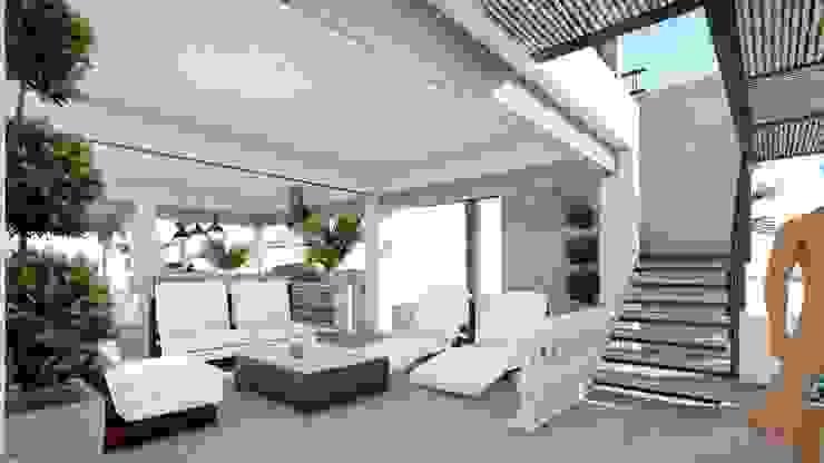 CREA arquitectos Modern style balcony, porch & terrace