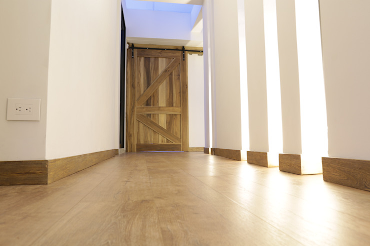 Casa VM Carpinteria Arquitectonica de Intrazzo Mobiliairo Rústico Madera maciza Multicolor