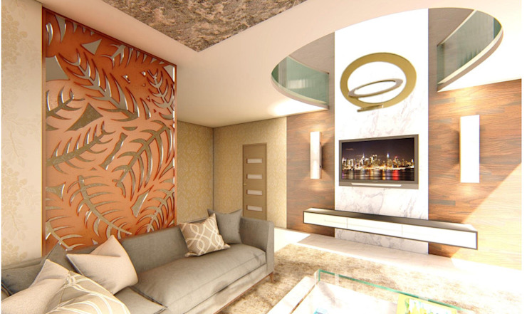 INTERIORS FOR PENTHOUSE AT BENGALURU by Aikaa Designs