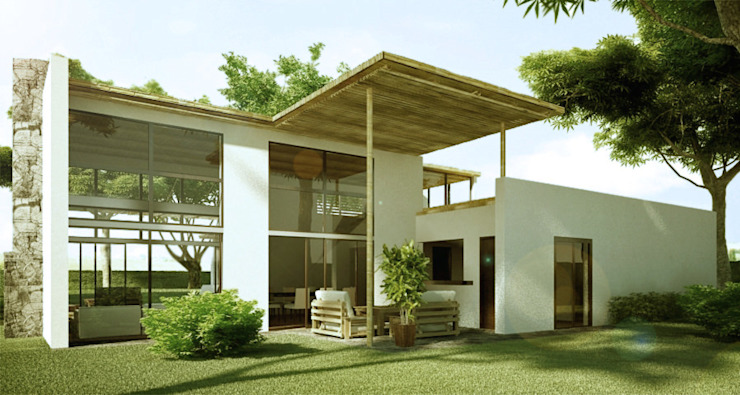 Rustic style houses by INSPIRA ARQUITECTOS Rustic