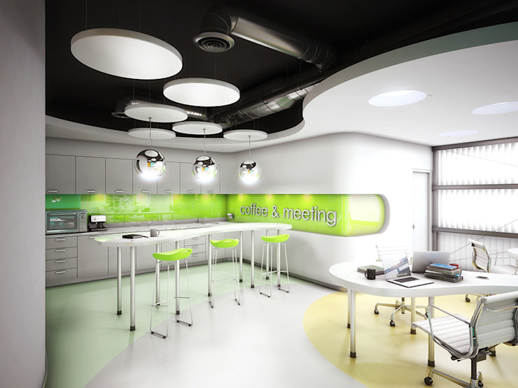 Modern study/office by INSPIRA ARQUITECTOS Modern
