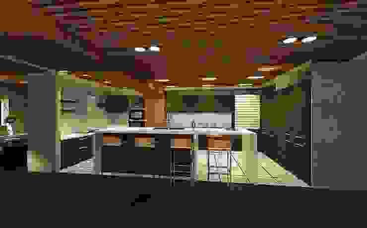 開放式廚房 根據 鼎爵室內裝修設計工程有限公司 日式風、東方風