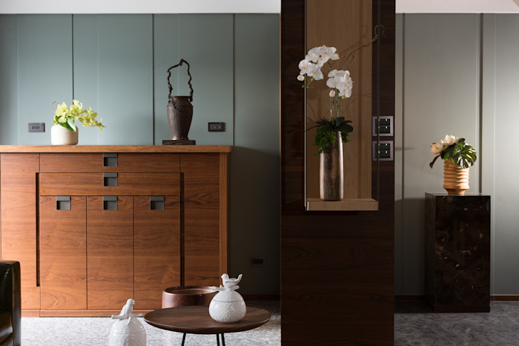 宸域空間設計有限公司 Pareti & Pavimenti in stile asiatico