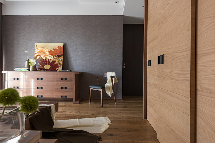 宸域空間設計有限公司 Pareti & Pavimenti in stile moderno