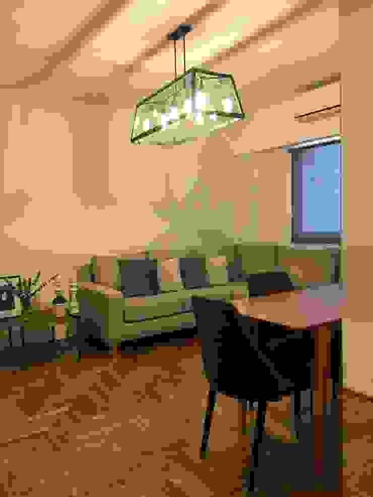 Ruang Keluarga Modern Oleh Estudio Qpi Modern Kayu Wood effect