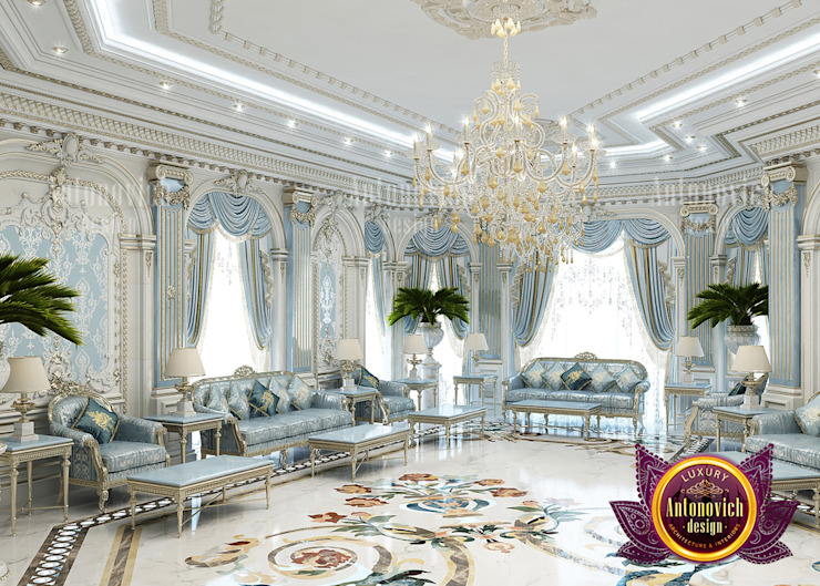 Spacious Majlis in Luxury Style by Luxury Antonovich Design