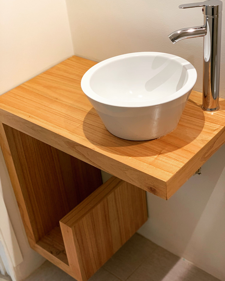 Rustic style bathroom by Estudio Qpi Rustic Wood Wood effect