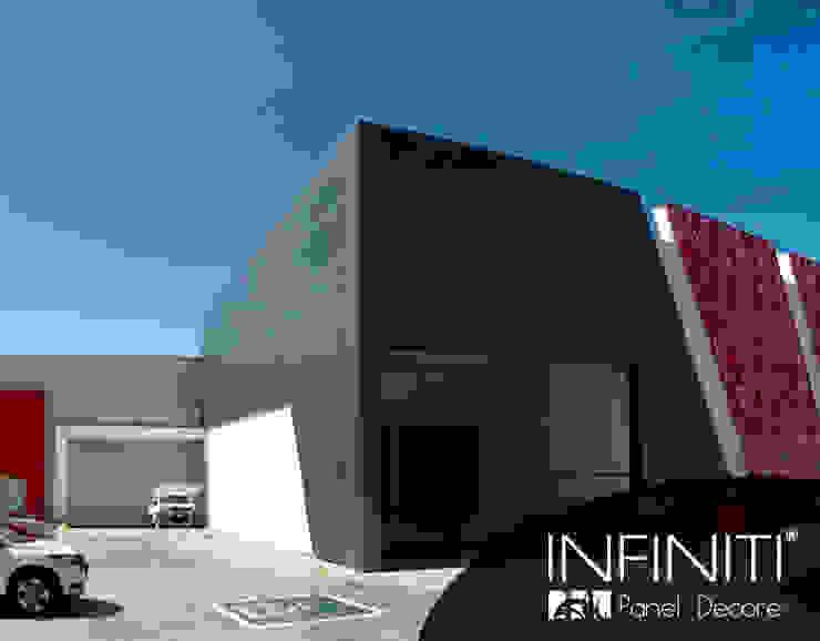 Infiniti Panel Decore Complesso d'uffici in stile minimalista Metallo Rosso