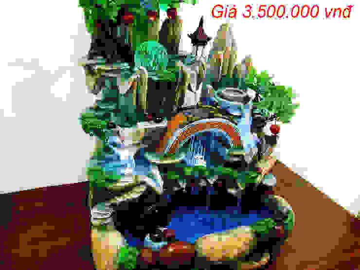 Hòn Non Bộ Mini - Thác Nước Phong Thủy Mẫu 18: mộc mạc  by Shopgiake, Mộc mạc
