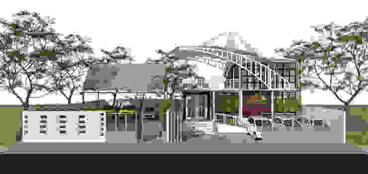 House Of Hardware Ruang Komersial Gaya Industrial Oleh Atap Rumah Studio Industrial Besi/Baja