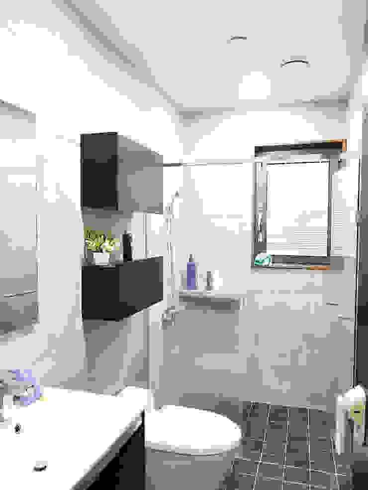 2층 욕실 모던스타일 욕실 by 호림건축사사무소 모던