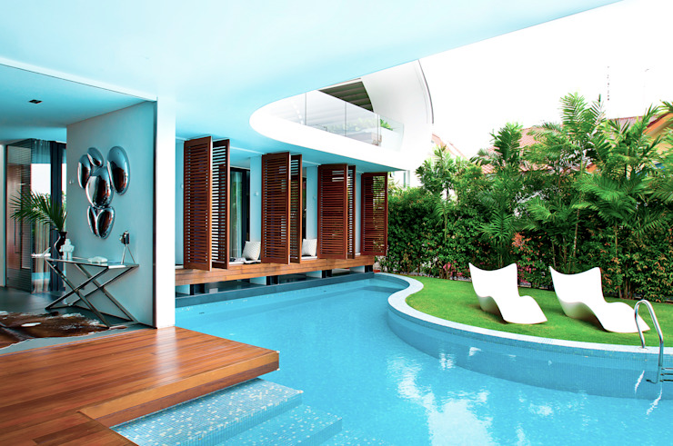 Pool Area by Design Intervention by Design Intervention Modern