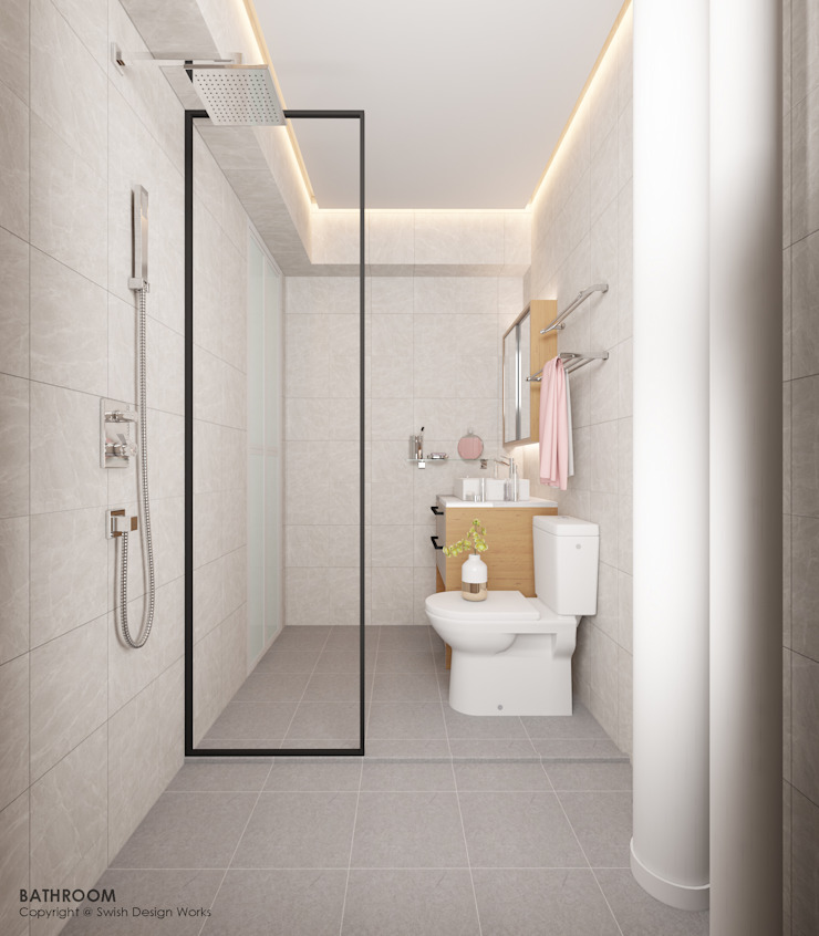 Compassvale Lane Scandinavian style bathroom by Swish Design Works Scandinavian
