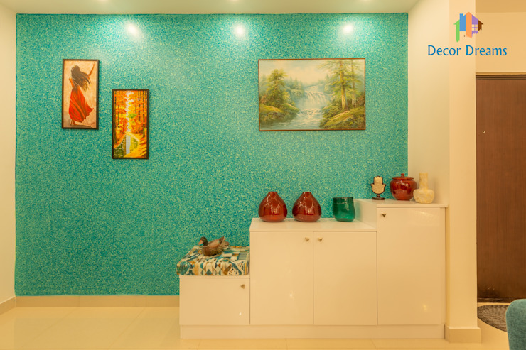 Brigade Meadows, 3 BHK—Dr. Usha & Dr. Mohan DECOR DREAMS Modern living room