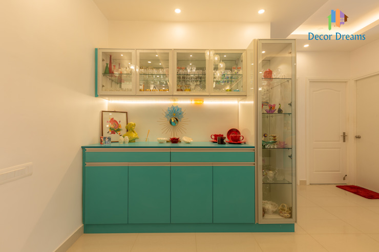 Brigade Meadows, 3 BHK—Dr. Usha & Dr. Mohan Modern dining room by DECOR DREAMS Modern