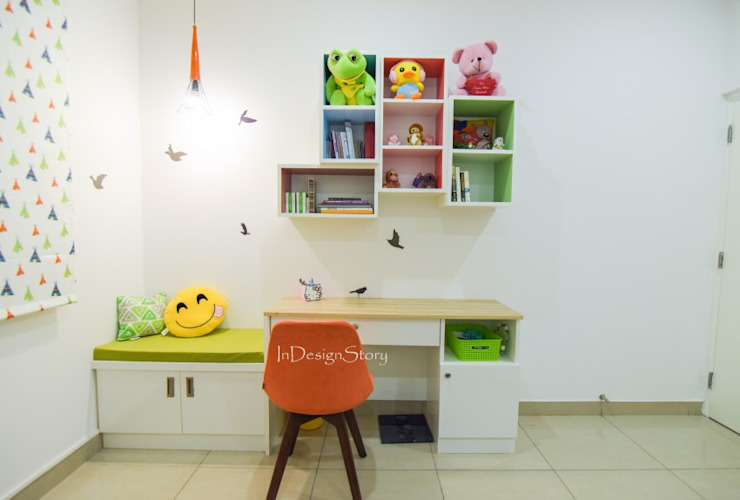 Kids room Study Table by InDesign Story Scandinavian Plywood
