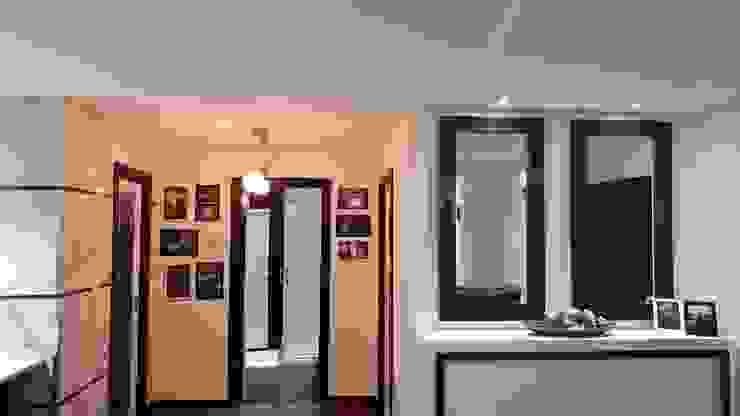 Modern corridor, hallway & stairs by Breeze House Modern
