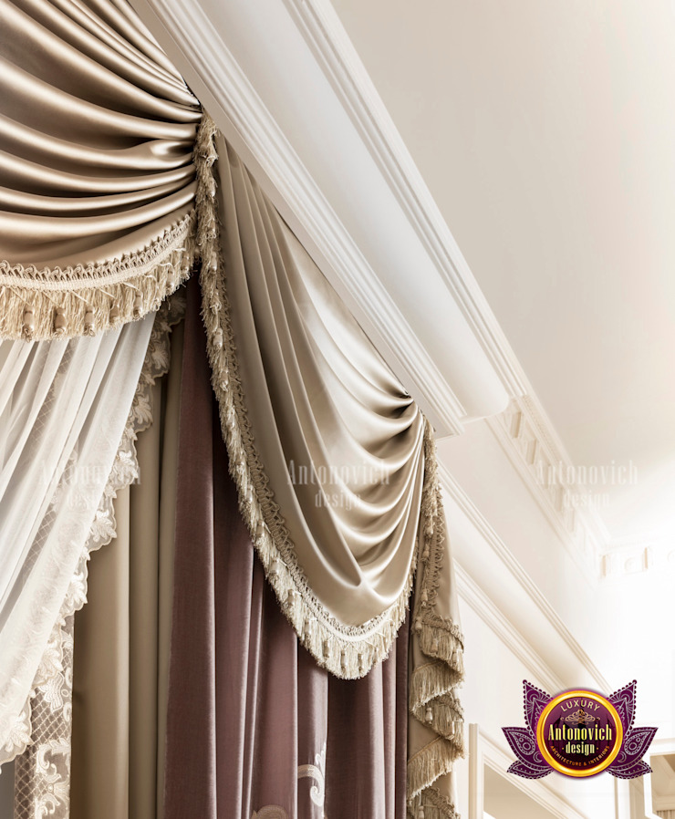 Extravagant Intricate Curtain Designs for Huge Homes by Luxury Antonovich Design