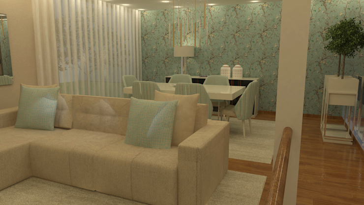 Salas em open space... Salas de jantar modernas por Casactiva Interiores Moderno