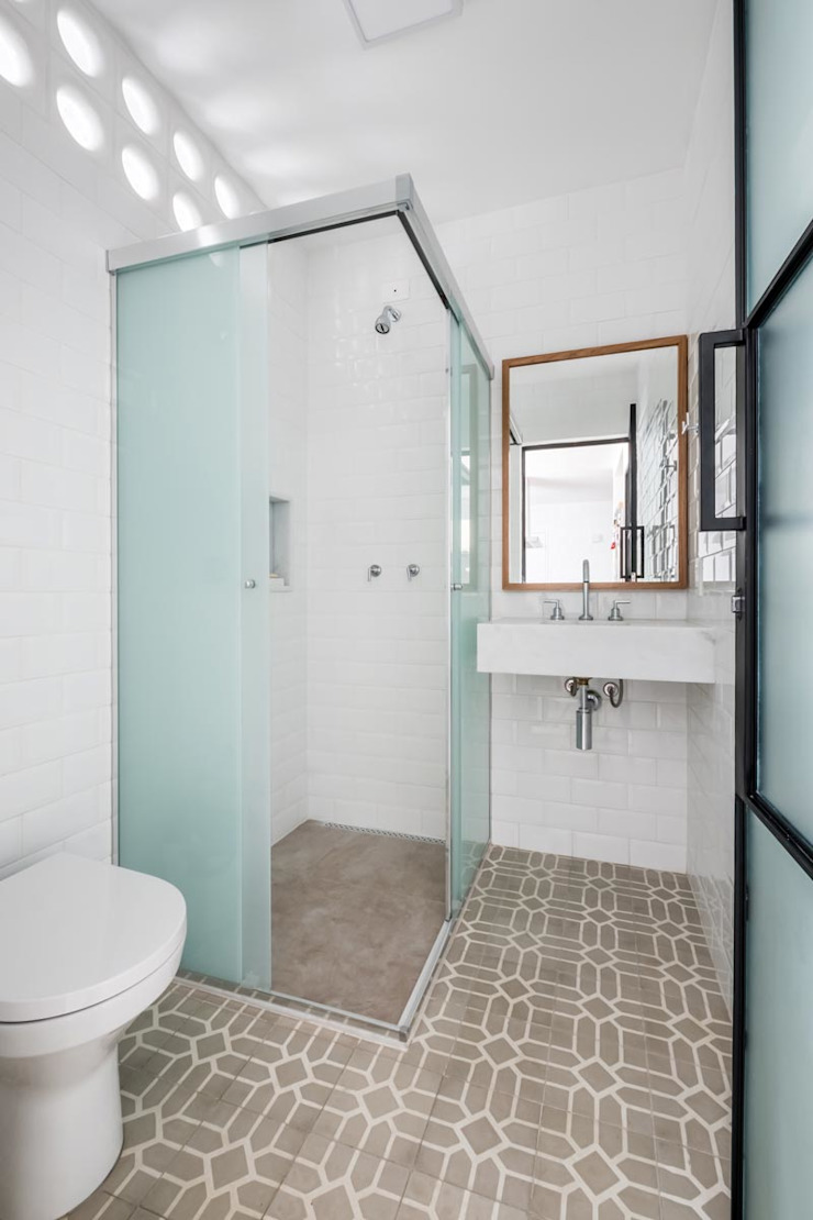 Ванная комната в стиле минимализм от INÁ Arquitetura Минимализм