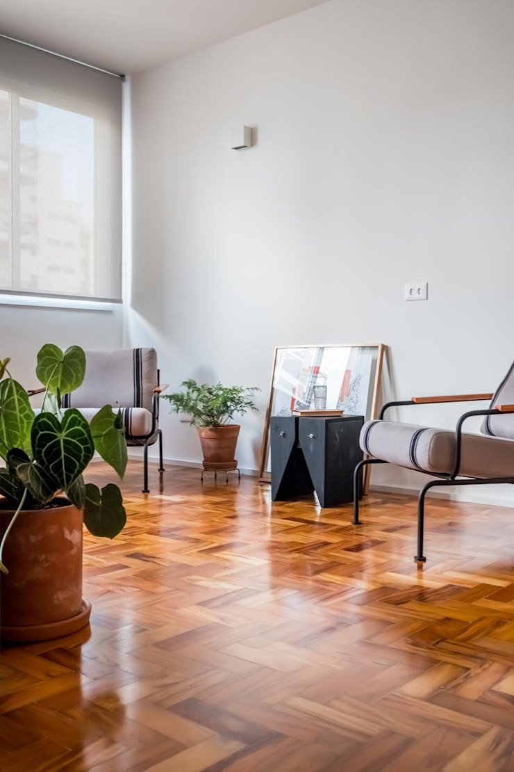 Гостиная в стиле минимализм от INÁ Arquitetura Минимализм
