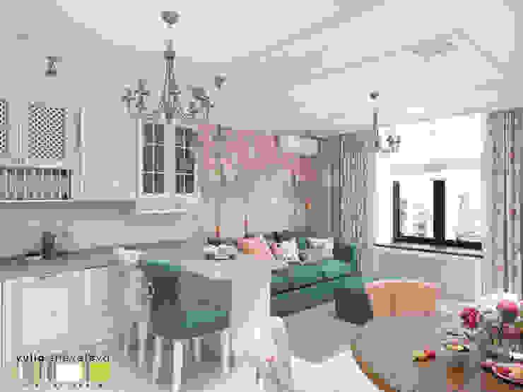 Вилла Авиньон Мастерская интерьера Юлии Шевелевой Гостиные в эклектичном стиле