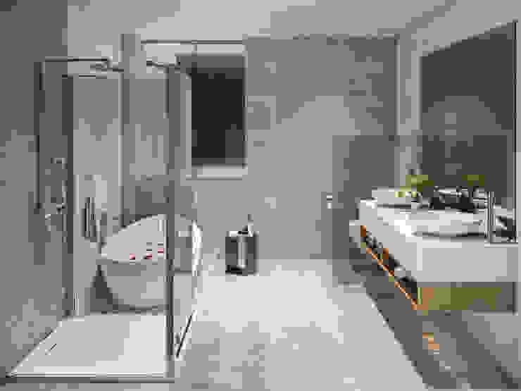 MAIN BATHROOM Studio17-Arquitectura Baños de estilo minimalista