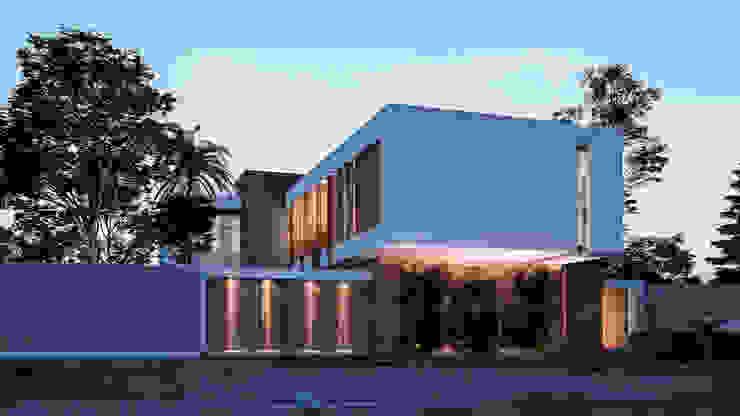 FACADE Casas de estilo minimalista de Studio17-Arquitectura Minimalista