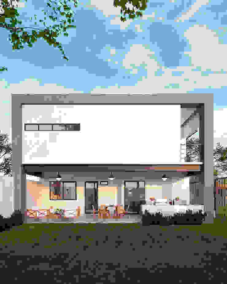 Casas en fraccionamiento Real del Nogalar (en construcci´ón) VillaSi Construcciones Casas modernas