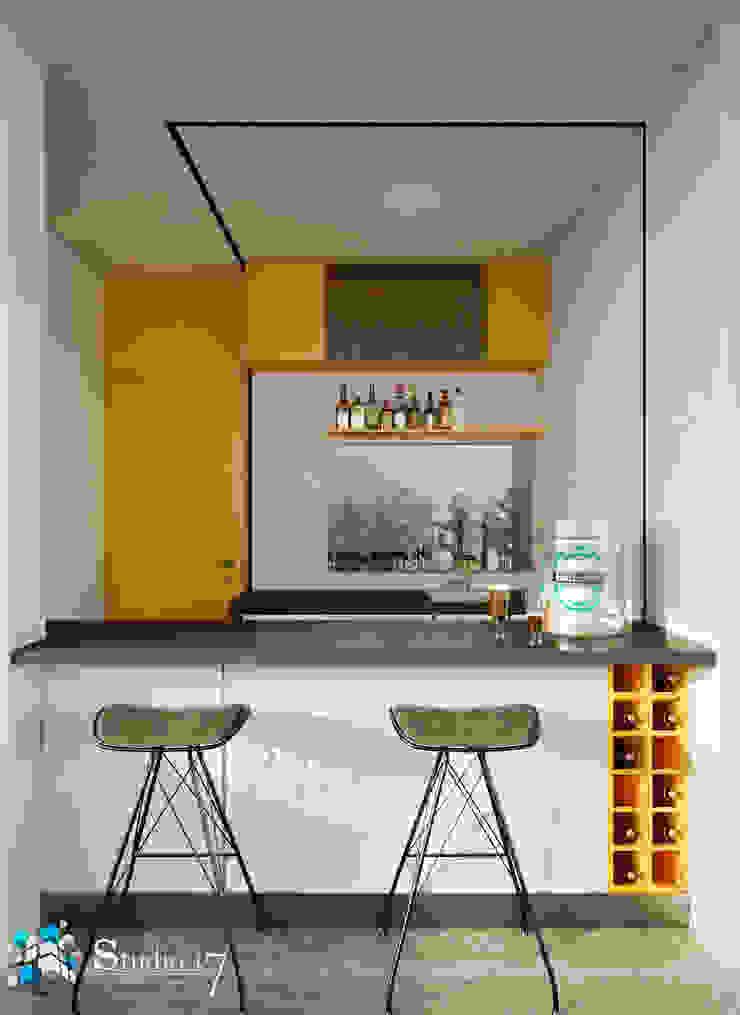 BAR Bodegas de vino de estilo minimalista de Studio17-Arquitectura Minimalista