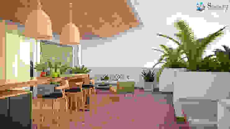 TERRACE Balcones y terrazas de estilo minimalista de Studio17-Arquitectura Minimalista