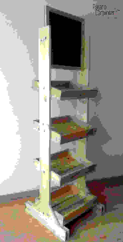 Mueble exhibidor de Pájaro Carpintero Rústico Madera Acabado en madera